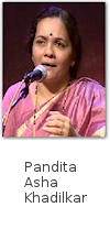 Maharashtra's much loved & multi-faceted indian classical vocalist, Pta. Asha Khadilkar inaugurated the 22 shruti harmonium by using it for accompaniment at the 'Sawai Gandharva Sangeet Mahotsava' in the year 2007, at Pune.