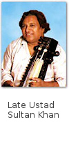 Ustad Sultan Khan needs no introduction as a Sarangi Maestro! He was highly pleased to view the 22 shruti research and instruments at his residence in Mumbai. He also offered Dr. Oke to play this 22 shruti harmonium along with his sarangi, in a 'jugalbandi'.